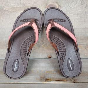 Okabashi Indigo Canvas Women's Flip-flops